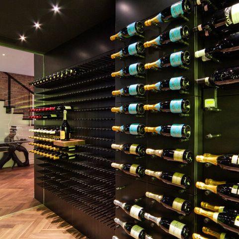 17 best images about modern wine cellars new york 39 black cellar 39 on pinterest nyc metals. Black Bedroom Furniture Sets. Home Design Ideas