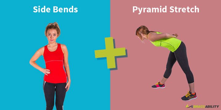 Side bends & Pyramid Stretch for Improved Posture
