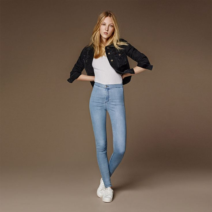 Made for the fashion brave, Ella Richards wears the ultra high rise Joni jeans. #Topshop