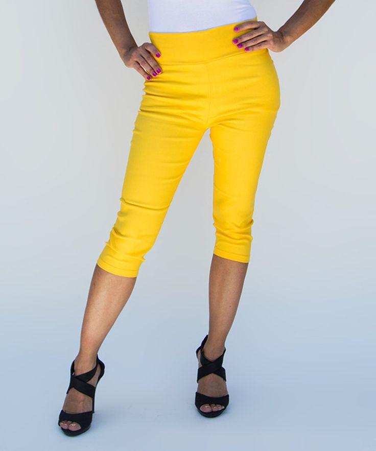 Yellow Capri Pants