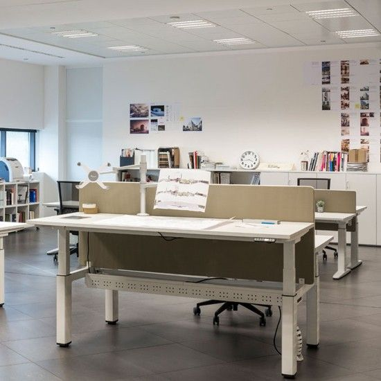 actiu office furniture. design office solutions product page for the actiu mobility height adjustable desk showing prices information and images of furniture