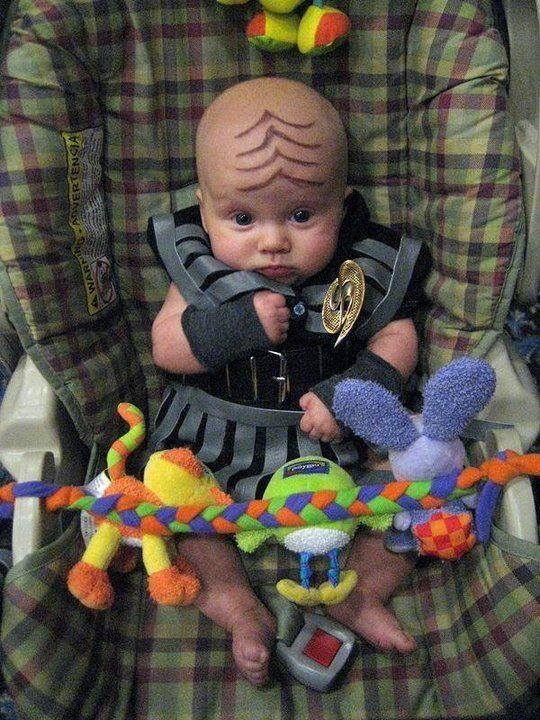 Baby Klingon...now that's just good parenting.