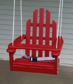How cute would this be on your back porch? <-Porch swing for kids!