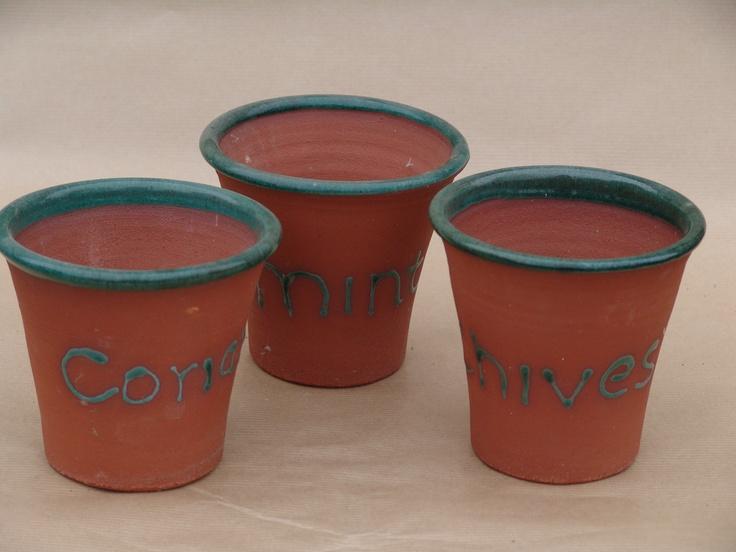 Aylesford Pottery: range of herb pots