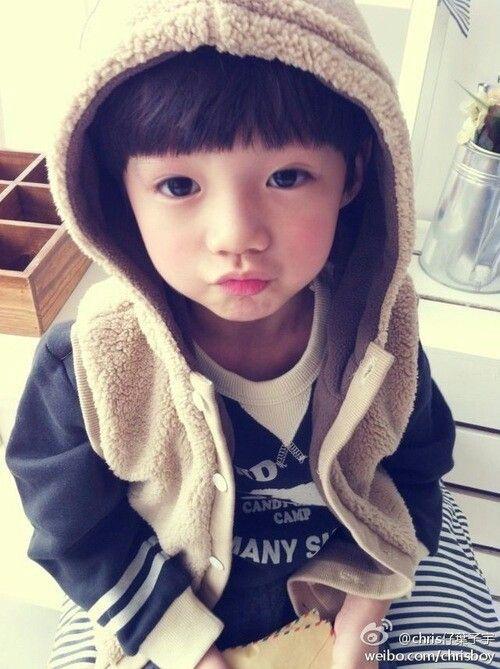 Wow so cute baby♥Love you Chris♥