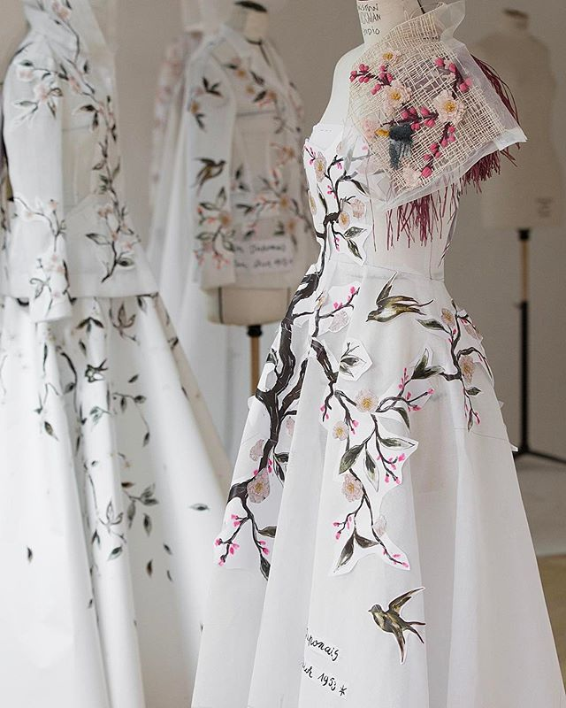 After long periods of dedication and inspiration #MariaGraziaChiuri and her talented team of petits mains expanded their powers of enchantment with the realization of a number of haute couture creations all inspired by the fertile furrow plowed by Monsieur Dior's 'Jardin Japonais' dress of 1953. #DiorTokyo  via DIOR OFFICIAL INSTAGRAM - Celebrity  Fashion  Haute Couture  Advertising  Culture  Beauty  Editorial Photography  Magazine Covers  Supermodels  Runway Models