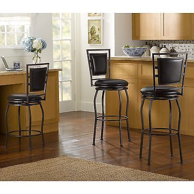 Bar Stools 153928: Linon Adjustable Bar Stools Set Of 3 High Counter Kitchen Cushioned Seat Metal -> BUY IT NOW ONLY: $132.25 on eBay!