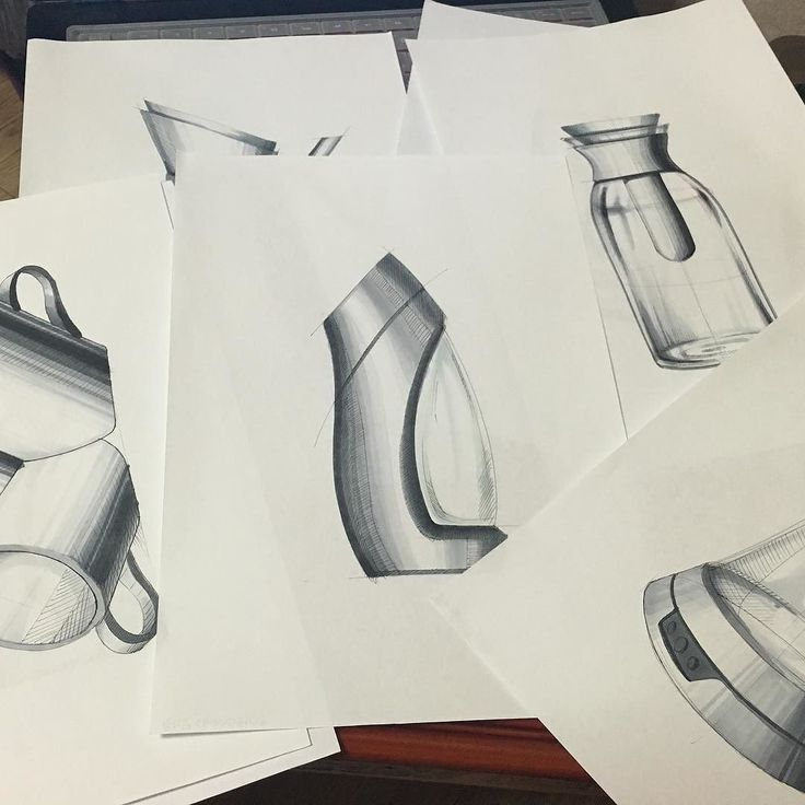 Water Bottle Hand Rendering | 031_designlap