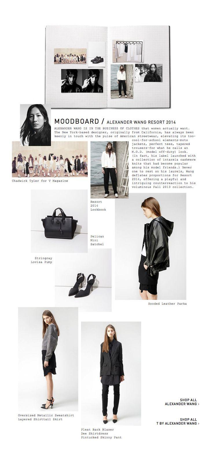 La Garçonne - just the best. Alexander Wang moodboard. sketchbook, fashion design, layout, design, portfolio