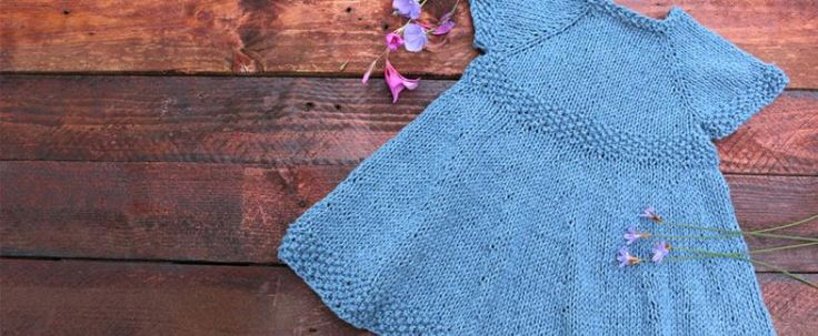 knitting baby dress free pattern with video tutorial