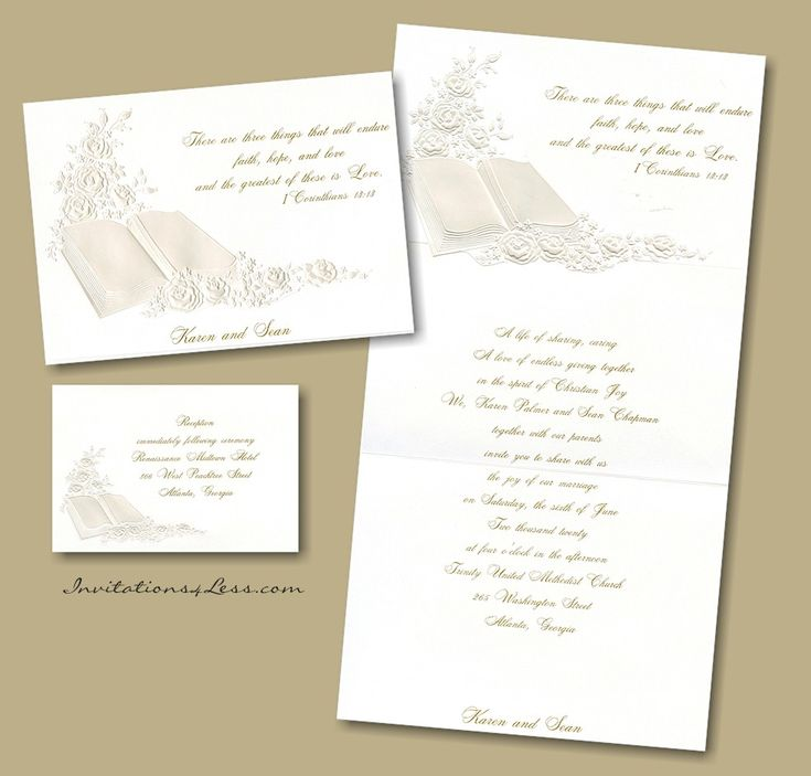 Pearl Prayerbook Wedding Invitation. ChristianPearlsWedding Invitations