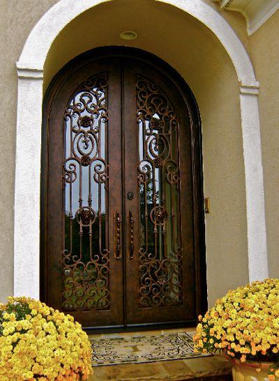 Clark Hall Doors | Entry Doors | Hand Carved Wood and Wrought Iron Entry Doors - Leading Door Manufacturer
