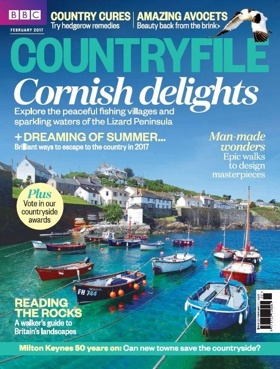 In this issue:  Cornish delights - explore the peaceful fishing villages and sparkling waters of the Lizard Peninsula  Dreaming of summer... Brilliant ways to escape to the country in 2017  Man-made wonders - Epic walks to design masterpieces  Reading the rocks - A walker's guide to Britain's landscapes  Milton Keynes 50 years on - Can new towns save the countryside?  Country cures - Try hedgerow remedies  Amazing Avocets - Beauty back from the brink  PLUS vote in our country...