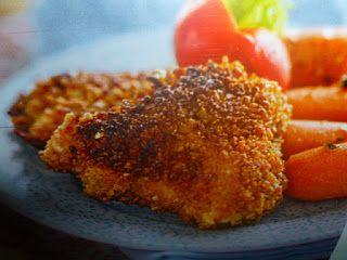 un mondo di ricette: petto di pollo impanato - con  corn flakes