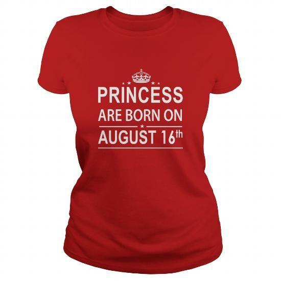 Cool 0816 August 16 Birthday Shirts Princess Born T Shirt Hoodie Shirt VNeck Shirt Sweat Shirt Youth Tee for Girl and Men and Family T shirts