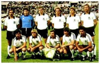 EQUIPOS DE FÚTBOL: SELECCIÓN DE ALEMANIA FEDERAL ganadora de la Eurocopa de 1980