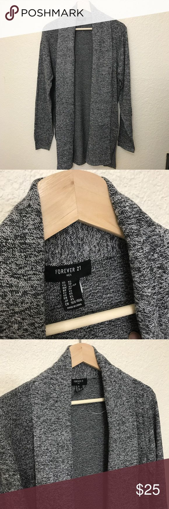21Men Long Gray Cardigan XS Long gray cardigan from 21 Men. Brand new in excellent condition. 21men Sweaters Cardigan