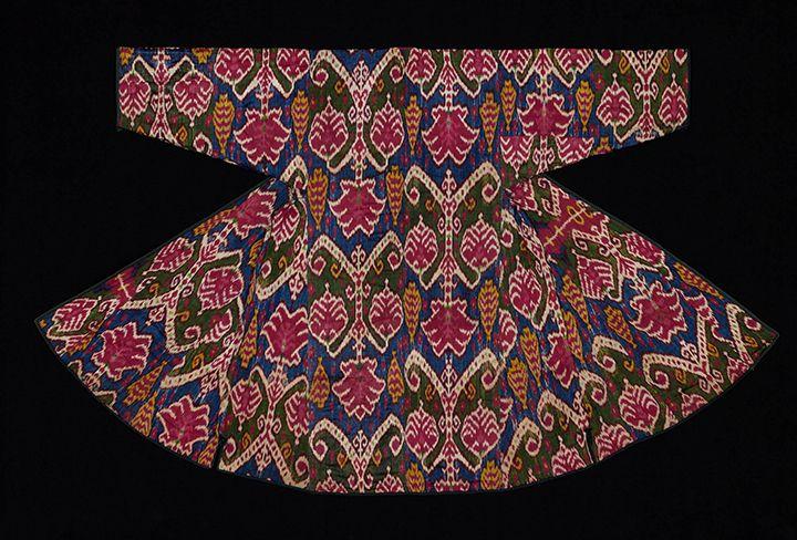 Central Asia, Uzbekistan, Bukhara, Woman's Robe (Munisak), second quarter of 19th century, silk and cotton, the Textile Museum, the Megalli Collection, Washington D.C.