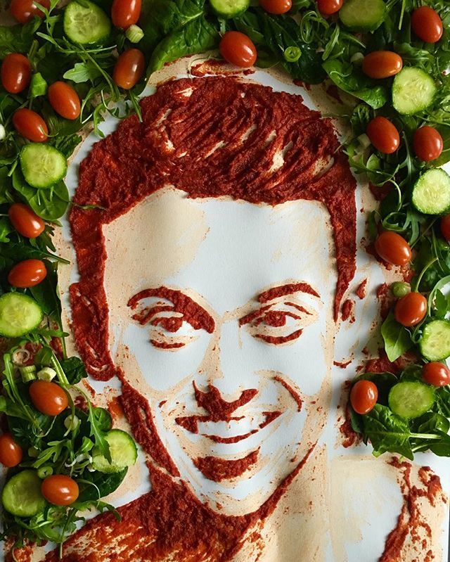 Looking forward to meeting @tomdaley1994 at @WaterstonesBham today check out my TOMato salad #FoodArt in celebration of #TomsDailyPlan #tomsdailyplanbooktour #healthy #fitness #salad #fresh #olympics #olympian #british #diver #NotThatKindOfArt #tomdaley