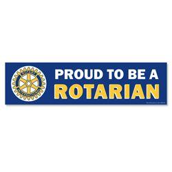 Russell-Hampton Co. Rotary Club Supplies: Removable Vinyl Bumper Sticker