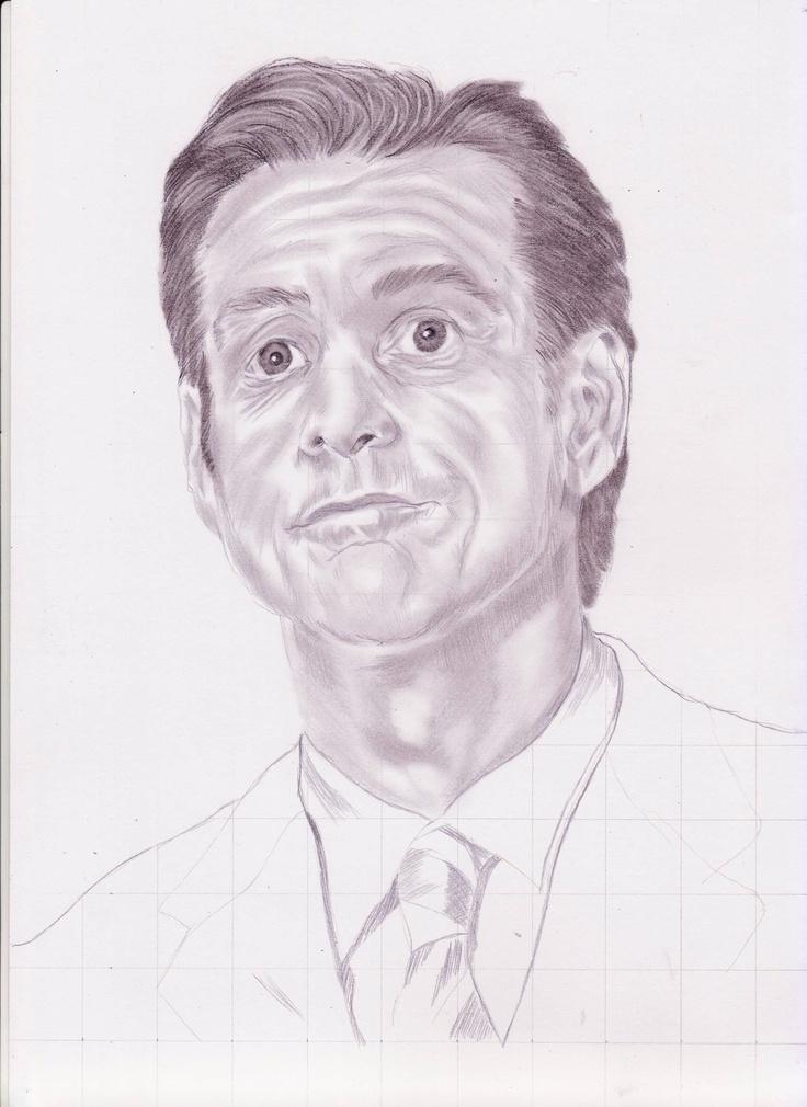 Point of Interest pada sketsa wajah jim carey