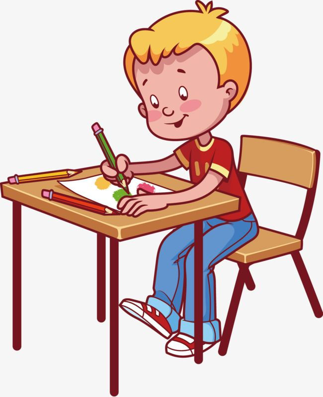 Boys Write Element Png And Vector Human Drawing School Boy Clip Art