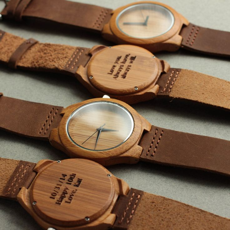 watches collections engraved tree watch leather black hut custom wood and treehut bamboo wooden