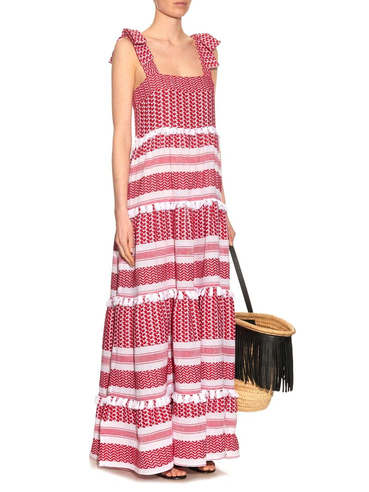 Amal tiered cotton maxi dress   Dodo Bar Or   MATCHESFASHION.COM