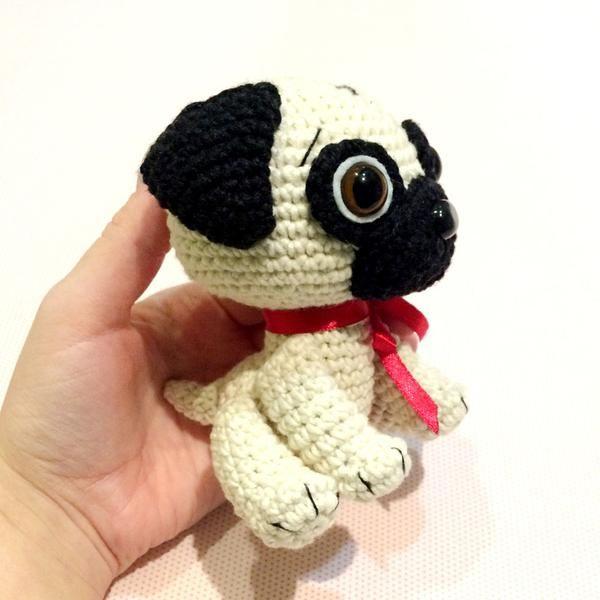 6c2e38b8d8e Baby Pug Dog crochet pattern - printable PDF