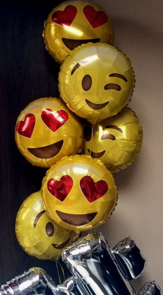Smile face balloons delivery, Fort Lauderdale balloon shop, balloons sale,