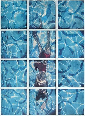 David Hockney - Pool -1984 - English Painter/Printmaker. An important contributor to the Pop art movement of the 1960s