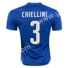 2016 European Cup Italy CHIELLINI Home Blue Thailand Soccer Jersey