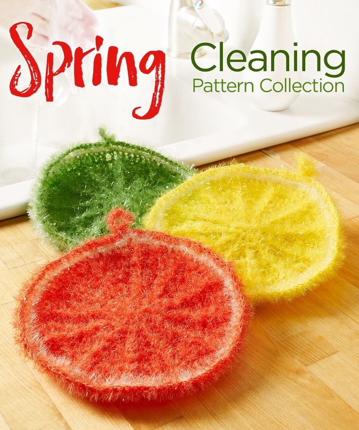 Spring Cleaning Pattern Collection -- It's spring, which means it's time to clean everything up! Get ready for summer fun by washing and tidying your living space. We've gathered 21 free crochet and knit patterns for you to make to keep your place neat all year long. With these scrubbing cloths and organizers, your home will look spic-and-span.