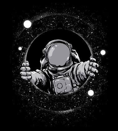 Black Hole custom t-shirt design by digitalorgasm