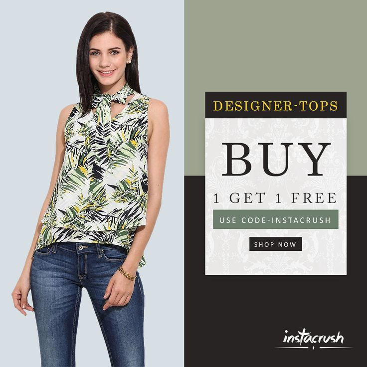 Buy 1 Get 1Free!! Hey beauties! Now make your elegance & style your weapon with trending women clothing featuring tops, dresses, bottoms, shirts and much more options explore now and order online at www.instacrush.in