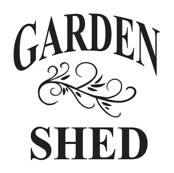 Garden STENCIL   GARDEN SHED 12x12 for Painting by OaklandStencil, $14.95