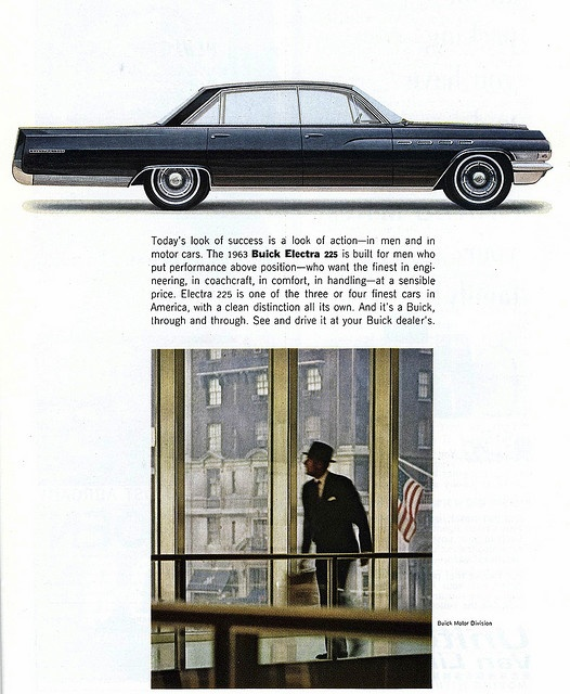 1963 Buick Electra .. ad in Feb 63 National Georgraphic