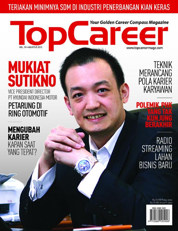 Cover Majalah Edisi10 Mukiat Sutikno Vice President