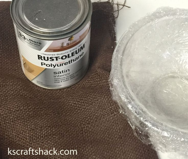 Make an Easy Decorative Bowl With Burlap!