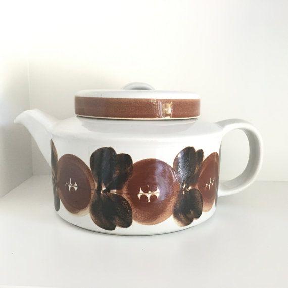 Arabia Rosmarin / Anemone brown stoneware by VintageDesignTreats