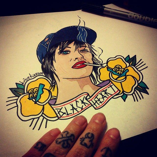 #brodydalle #distillers #tattooflash #punk #sketch