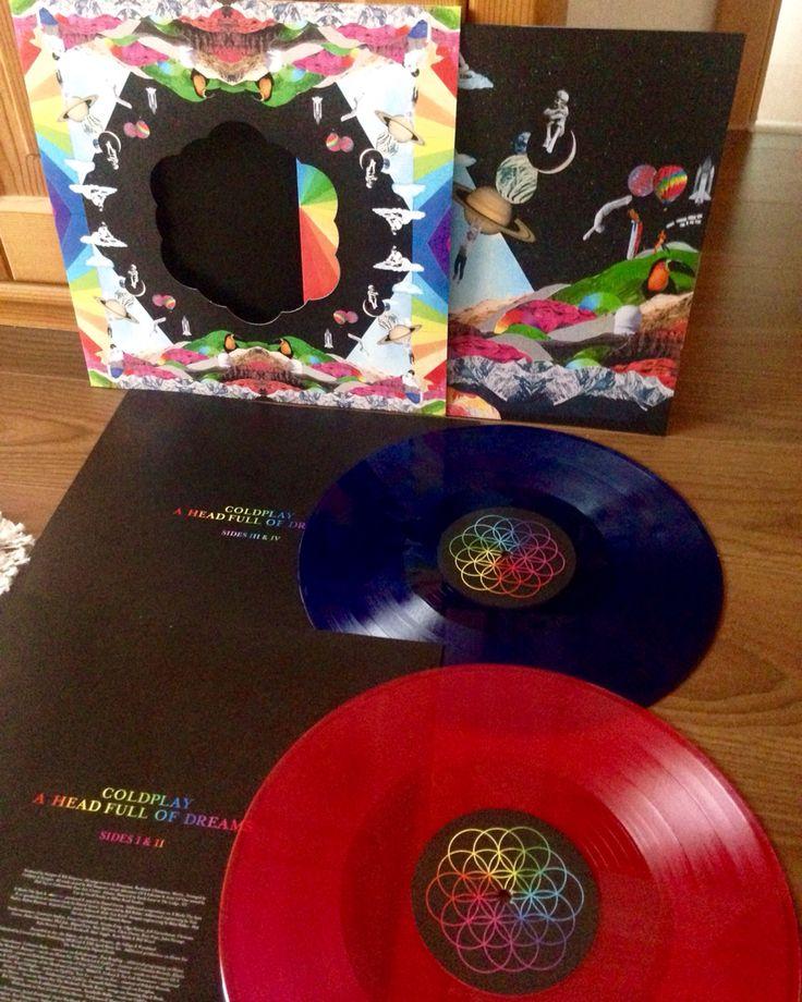 Coldplay, a head full of dreams colored vinyl