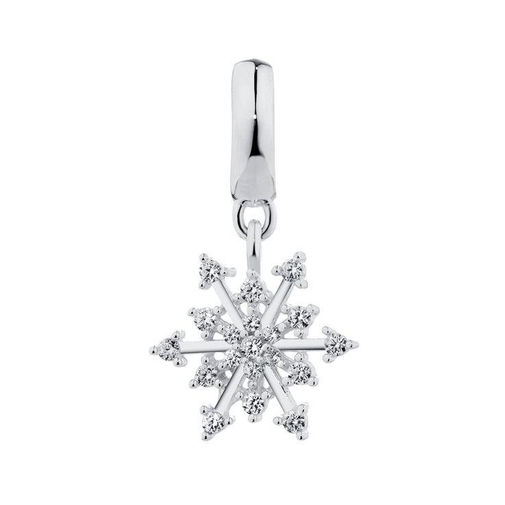 Sterling Silver Snowflake Dangle Charm