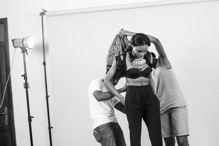 on set: F/W 2013 Paula Okunzuwa