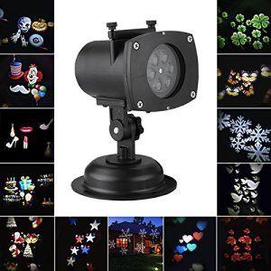Excelvan LED Projecteur de Paysage Démontable 12 Couleurs Commutable Auto-Rotation Étanche IP65 Lumière de Décoration Intérieur Extérieur