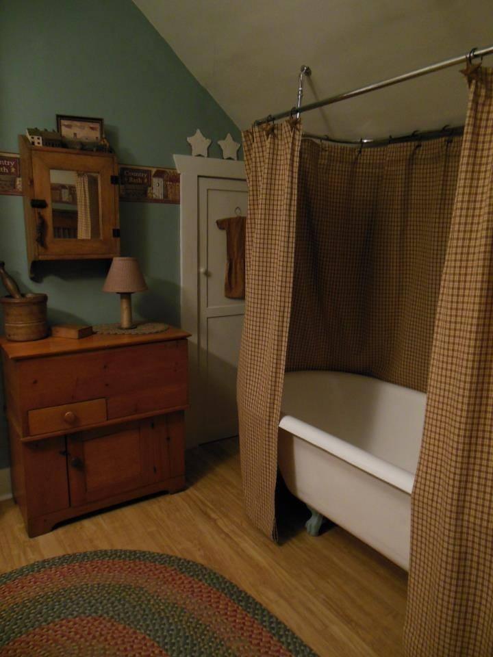 46 Best Primitive Bathrooms Images On Pinterest Country Primitive Prim Decor And Primitive