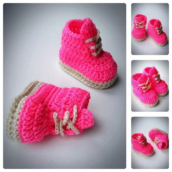 Baby Girl Pink Crochet Booties, Newborn Crochet Shoes, Baby Shoes, Crochet Booties, Baby Shoes, Boots for babies, Baby shower gift