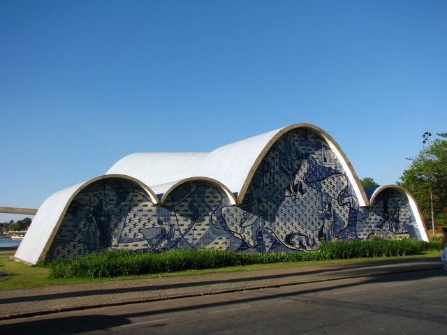 Church in Pampulha by Oscar Niemeyer (1907-2012)