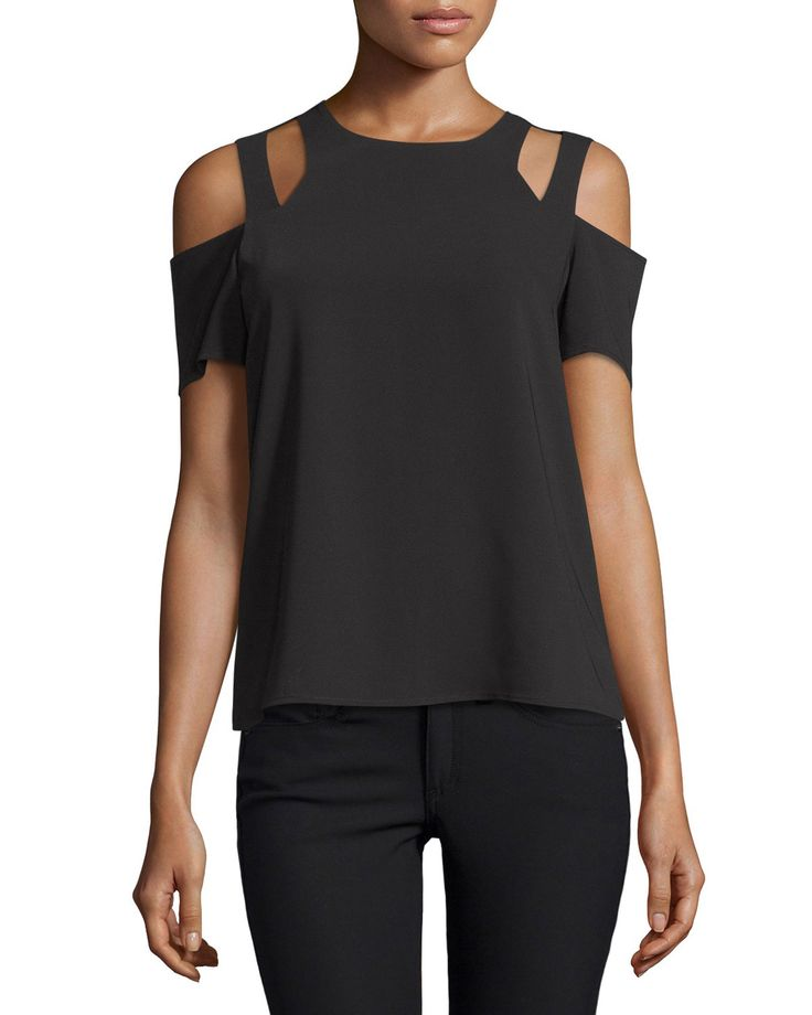 Padma Cold-Shoulder Top, Black