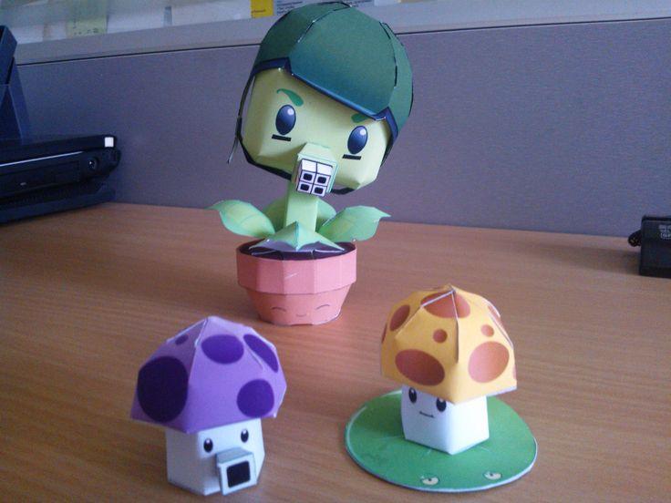 Gatling Pea Papertoy | Plants Vs. Zombies Papercraft ...